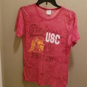 CAMP DAVID SHEER USC T SHIRT DISTRESSED SIZE LARGE